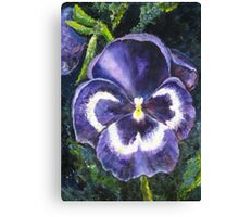 The Giant Purple Pansy Acrylic Painting Canvas Print