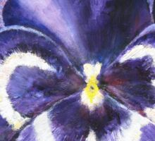 The Giant Purple Pansy Acrylic Painting Sticker