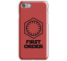 Star Wars - The First Order Symbol iPhone Case/Skin