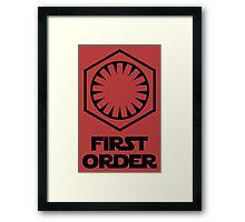 Star Wars - The First Order Symbol Framed Print