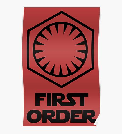Star Wars - The First Order Symbol Poster