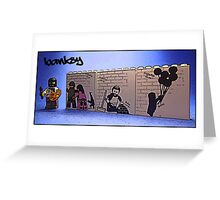 Banksy on the practice walls at home by Tim Constable Greeting Card