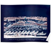 Civil War Maps 0201 Birds' eye view of the camp of the 67th Reg't PV Annapolis Md on the ground occupied by the troops of Washington Lafayette Inverted Poster