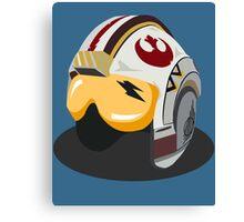 Star Wars Rebel Alliance Fighter Helmet Canvas Print