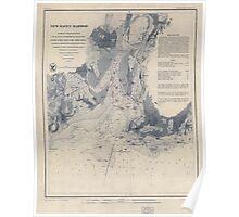 Civil War Maps 1183 New Haven Harbor Poster