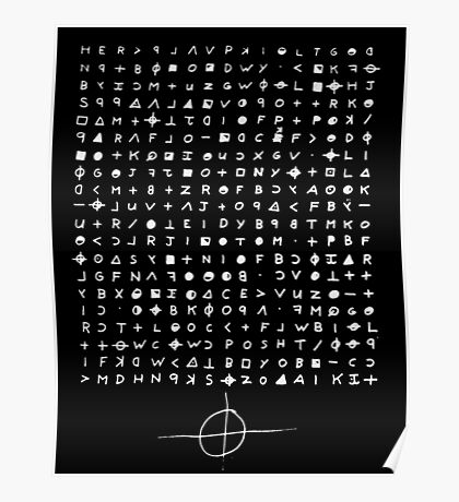 The Zodiac - 340 Cipher Poster