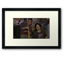 """marshall and ted having a """"sandwich"""" Framed Print"""