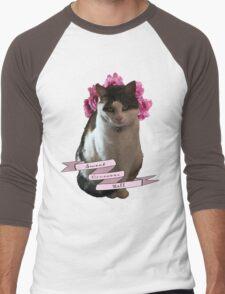 Sweet Cinnamon Kitty Roll Men's Baseball ¾ T-Shirt