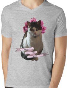 Sweet Cinnamon Kitty Roll Mens V-Neck T-Shirt