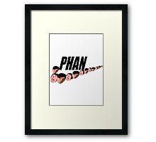 Phan ( Dan and Phil ) Nike Meme Framed Print