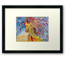 Coloured Horse Framed Print