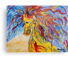 Coloured Horse Canvas Print