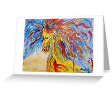 Coloured Horse Greeting Card