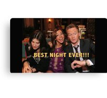 robin, lily and barney (best night ever)  Canvas Print