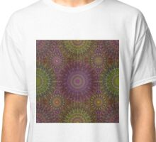 Colorful Hippie Mandala Pattern on Dark Classic T-Shirt