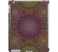 Colorful Hippie Mandala Pattern on Dark iPad Case/Skin