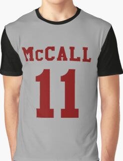 Mccall 11 Scot mccall Beacon Hills lacrosse - maroon ink Graphic T-Shirt