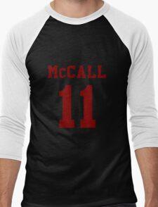 Mccall 11 Scot mccall Beacon Hills lacrosse - maroon ink Men's Baseball ¾ T-Shirt