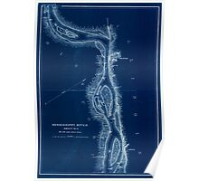 Civil War Maps 1166 Mississippi River from Cairo Ill to St Marys Mo in VI sheets 06 Inverted Poster