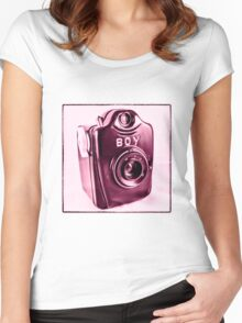 Pink Boy  Women's Fitted Scoop T-Shirt