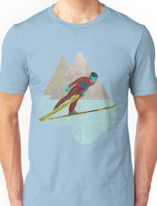 Skijumper with Mountains Unisex T-Shirt