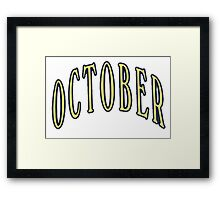 October- OVO Framed Print