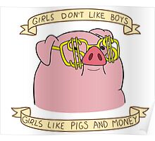 Girls Don't Like Boys, Girls Like Pigs and Money Poster