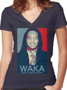 Waka flocka flame for president  (high quality) Women's Fitted V-Neck T-Shirt