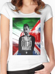 Mic Righteous Straight outta Margate/Britain/Iran Women's Fitted Scoop T-Shirt