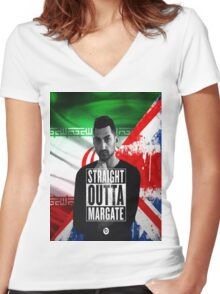 Mic Righteous Straight outta Margate/Britain/Iran Women's Fitted V-Neck T-Shirt