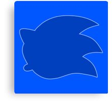 Smash Sonic Icon with outline Canvas Print