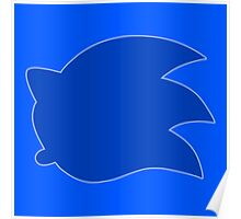 Smash Sonic Icon with outline Poster