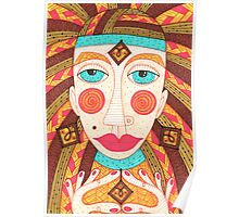 Mysterious fortuneteller gipsy woman Poster