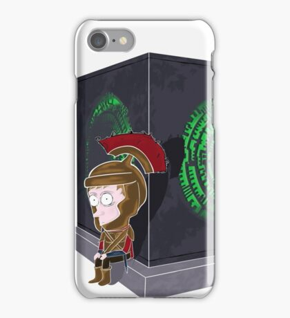 Waiting for a mad girl with red hair iPhone Case/Skin