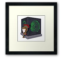 Waiting for a mad girl with red hair Framed Print