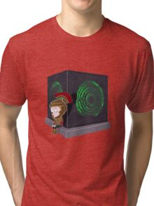 Waiting for a mad girl with red hair Tri-blend T-Shirt
