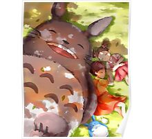 Totoro Daydreaming Poster