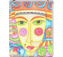 Mysterious ginger curly girl iPad Case/Skin