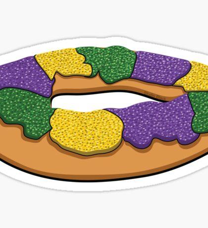 King Cake Sticker