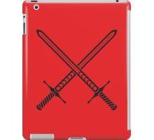 Crossed Sword Tattoo Design - Black on Red iPad Case/Skin