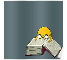 Jake Reading a Giant Book - AdventureTime! Poster