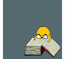 Jake Reading a Giant Book - AdventureTime! Photographic Print