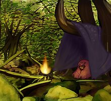 traveling forest child by doodle Joy