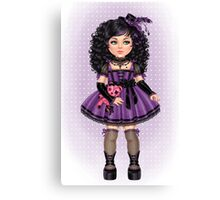 Little Goth Doll Canvas Print