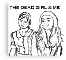 The dead girl & me Canvas Print