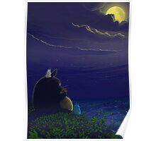 Totoro in the Moonlight Poster