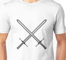 Crossed Swords Tattoo Design - Black Unisex T-Shirt