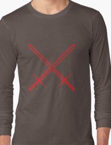 Crossed Swords Tattoo Design - Red Long Sleeve T-Shirt