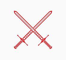 Crossed Swords Tattoo Design - Red Unisex T-Shirt