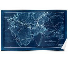 Civil War Maps 0832 Map of the battle of Chancellorsville Saturday May 2nd 1863 Inverted Poster